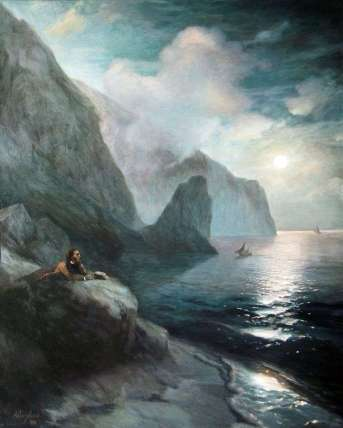 Pushkin on the Crimea by Aivazovsky
